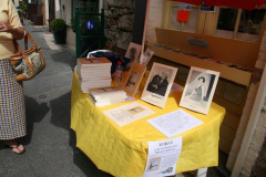 The display table outside